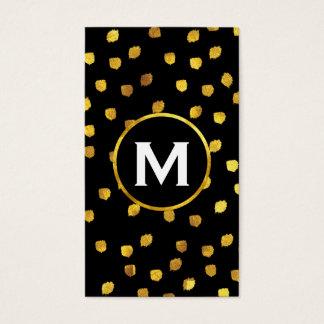 Monograma/ouro Cartão De Visitas