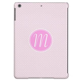 Monograma Pastel cor-de-rosa à moda da estrutura Capa Para iPad Air