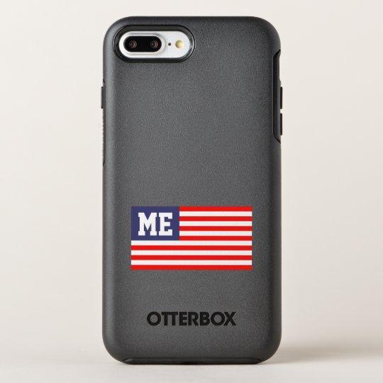 Monograma patriótico personalizado da bandeira capa para iPhone 7 plus OtterBox symmetry