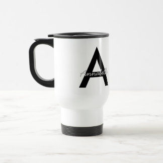 Monograma personalizado da tipografia caneca térmica