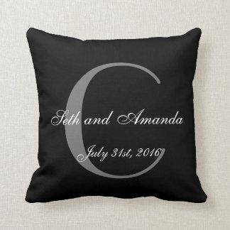 Monograma personalizado lembrança do casamento travesseiros de decoração