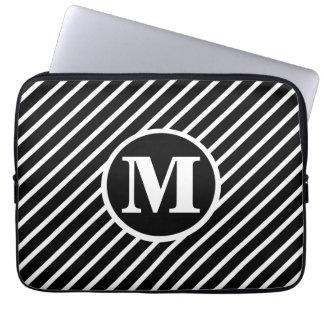 Monograma preto do DS do ponto Capa Para Notebook
