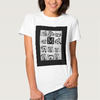 Monograma preto feito sob encomenda da colagem de t-shirt