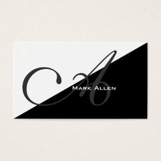 Monograma preto moderno básico do triângulo cartão de visitas