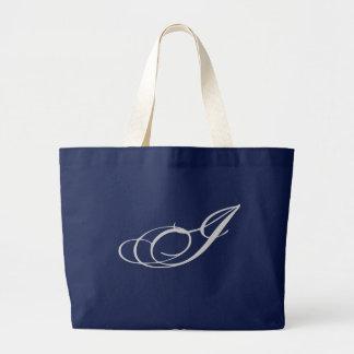 Monograma que elaborado eu franzo bolsa tote grande