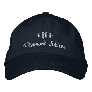 Monograma real de Jubileu-Elizabeth do diamante Boné Bordado