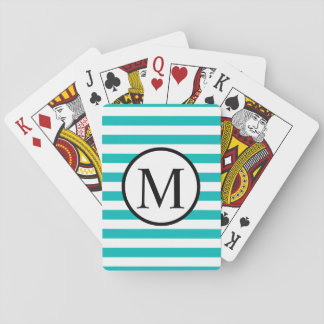 Monograma simples com as listras horizontais do jogo de carta
