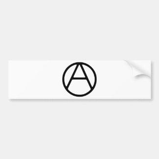 Monograma simples preto de AO-OA Adesivo De Para-choque