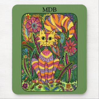 Monograma vívido do costume da arte popular do mouse pad