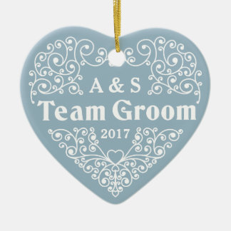 Monogramas do noivo da equipe & ornamento feitos