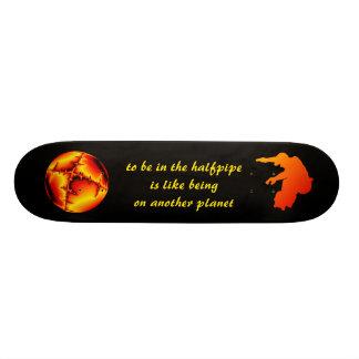 """Monopatim """"em the halfpipe """"being… shape de skate 18,7cm"""