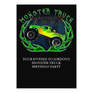 Monster truck convite 12.7 x 17.78cm