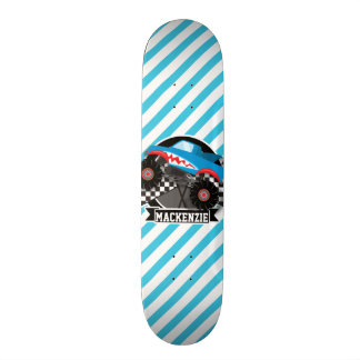 Monster truck do tubarão; Bandeira Checkered; Skateboard