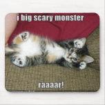 Monstro assustador mouse pads