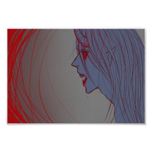Monstro azul & vermelho fotos