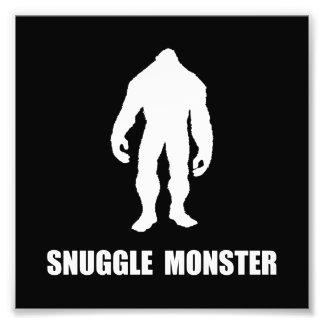 Monstro Bigfoot do Snuggle Impressão De Foto