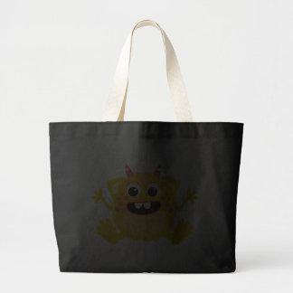 Monstro bonito retro amarelo bolsa