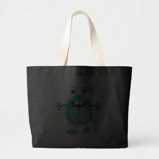 Monstro bonito retro bolsas para compras