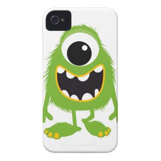 Monstro bonito retro verde capas de iPhone 4 Case-Mate