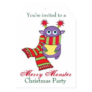 Monstro com lenço do feriado convite 12.7 x 17.78cm