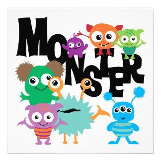 Monstro Convites Personalizados