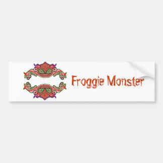 Monstro de Froggie - desenhos animados do sapo Adesivo Para Carro