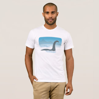 Monstro de Loch Ness com a camiseta do