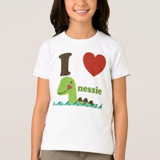 Monstro de Loch Ness mim camiseta das meninas do