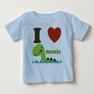 Monstro de Loch Ness mim camiseta do bebê do