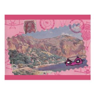 Monstro de um cartão das férias cartão postal