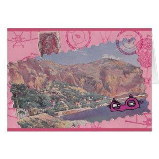 Monstro de umas férias Notecard Cartão Comemorativo