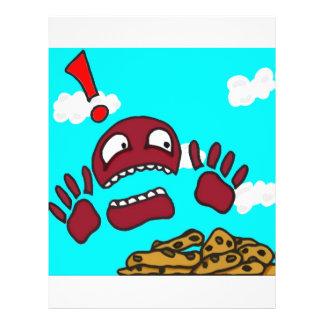 Monstro do biscoito panfleto coloridos