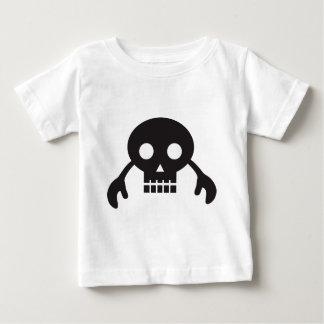 monstro do crânio camiseta para bebê
