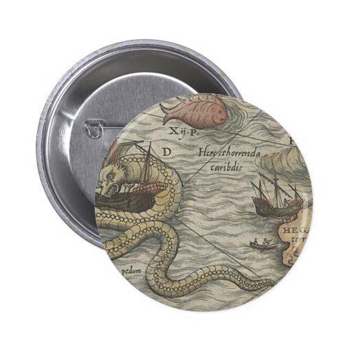 Monstro do mapa/serpente de mar pins