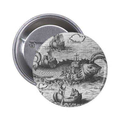 Monstro do mapa/serpente de mar botons