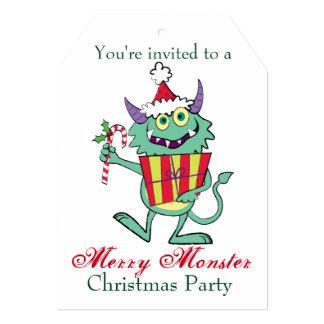 Monstro do Natal com presente Convite 12.7 X 17.78cm