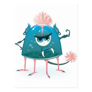 monstro do vetor que mostra seu poder cartão postal