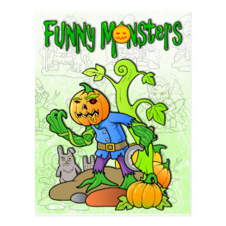 monstro engraçados cartão postal