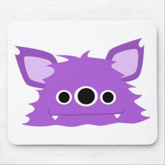 Monstro Eyed do roxo três Mouse Pad