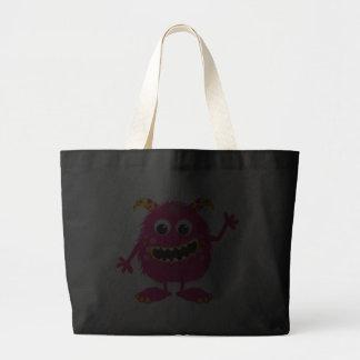 Monstro feminino cor-de-rosa retro bolsas