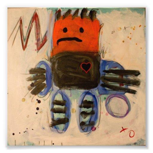 Monstro Huggable por Coper & Gina (mamã) Impressão De Foto