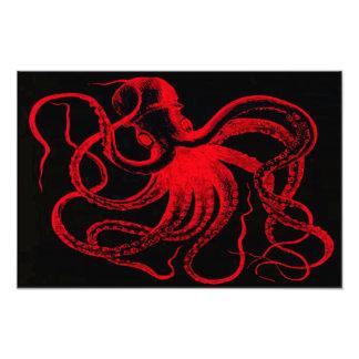 Monstro náutico de Kraken do vintage de Steampunk  Fotografia