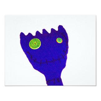 Monstro no azul convite 10.79 x 13.97cm