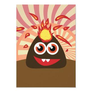 Monstro quente do vulcão convites personalizado
