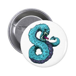 Monstro serpente de lago sea snake boton
