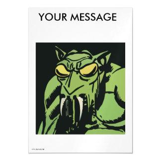 Monstro verde da cara