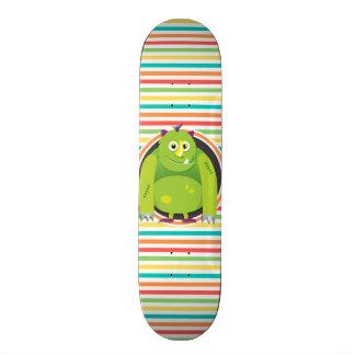 Monstro verde; Listras brilhantes do arco-íris Skate