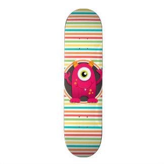 Monstro vermelho; Listras brilhantes do arco-íris Skate