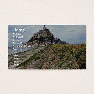 Mont-Santo-Michel, Normandy, France Cartão De Visitas