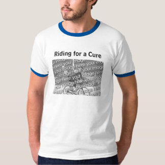 Montada para uma cura t-shirt